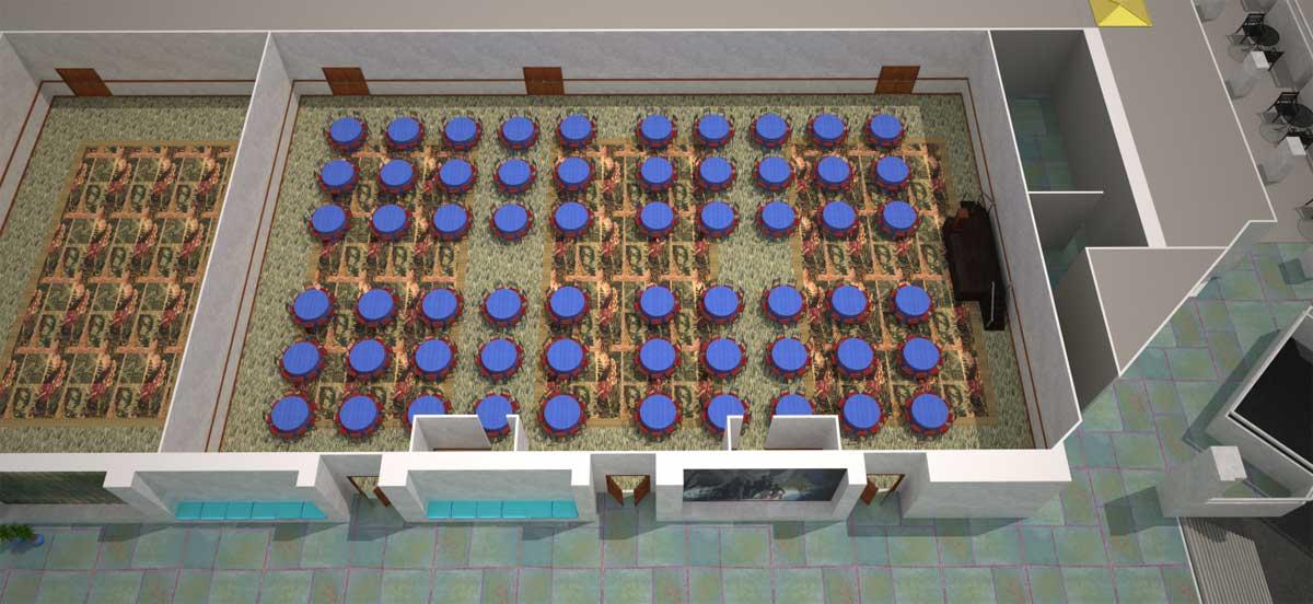 会议室 313 ABC|宴会式场地设置