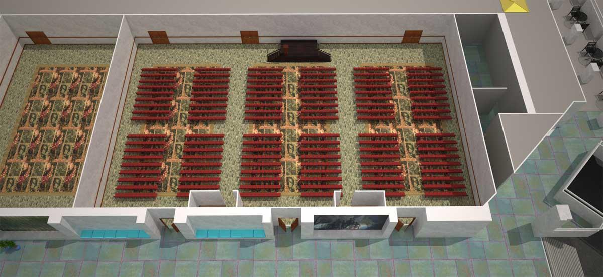会议室 313 ABC|教室式场地设置