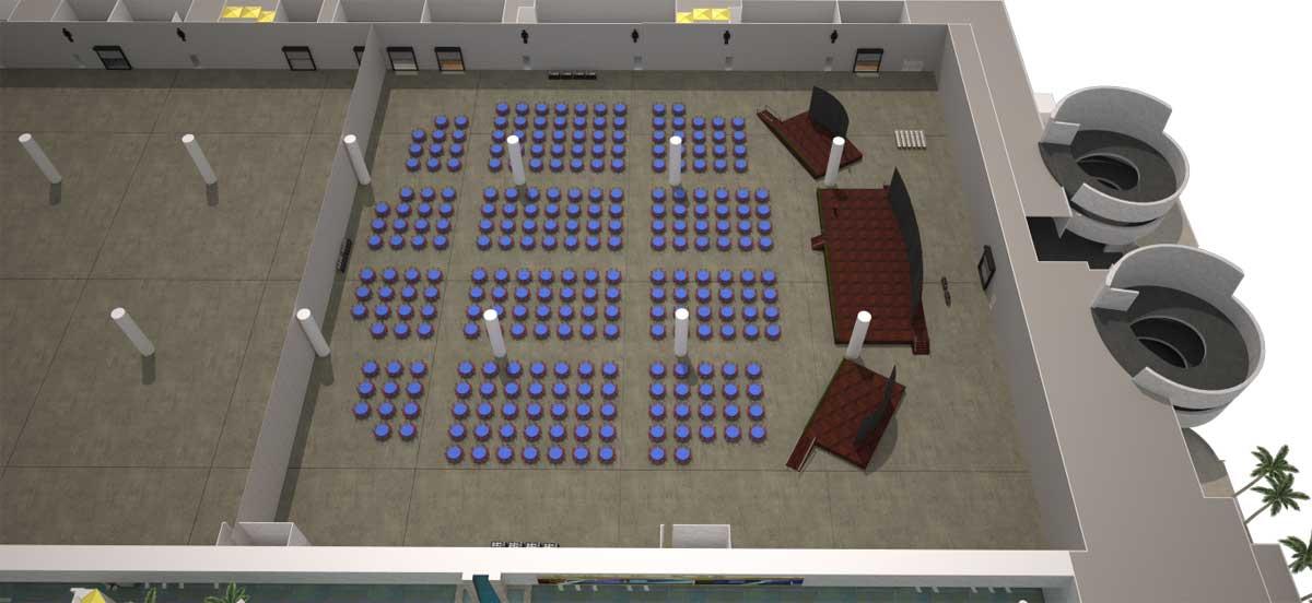 23号展会厅|宴会式场地设置